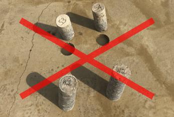 Example of bad concrete testing